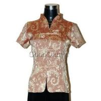 Buy cheap Fissidens Flowers Chinese Blouse---Brown from wholesalers