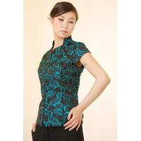 Buy cheap Lucky Turquoise Clouds Silk Brocade Blouse from wholesalers