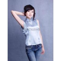 Buy cheap Pale Blue Pure Silk Blouse from wholesalers
