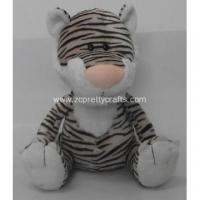 Buy cheap Black and white stripes posture tiger plush toys from wholesalers