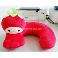 Buy cheap Super soft red rural strawberry u-shaped pillow product