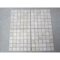 Buy cheap Tumbled Square Travertine Mosaic Stone Tile Patterns Beige Color Mosaic Wall Tiles from wholesalers