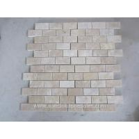 Buy cheap Tumbled Noce Tumbled Travertine Mosaic Tiles Brick Shape Mosaic Tile from wholesalers