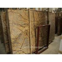 Buy cheap Indian Rainforest Brown Granite Slab Countertop Price from wholesalers