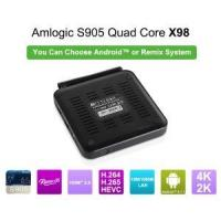 Buy cheap Amlogic tv box support remix with 1000M etherent from wholesalers