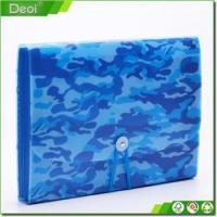 Buy cheap PP material Blue camo expanding file folder manufactured in Shanghai PVC-0026 from wholesalers