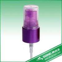 China Metal Color Purple Aluminum Closure 20/410 Mist Sprayer For Hair Products on sale