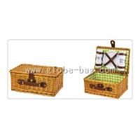 Buy cheap Outdoor wicker picnic basket for 4 person from wholesalers