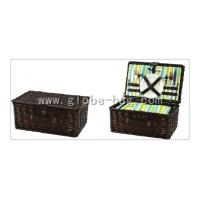 Buy cheap 4 person picnic wicker hamper shopping basket from wholesalers