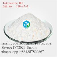 Buy cheap Pharmaceutical Grade Local Anesthetic Tetracaine HCl CAS136-47-0 product