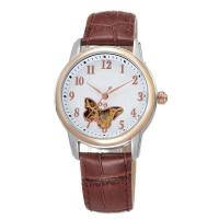 Buy cheap AL802WLadies fancy gold watches with mechanical watches,Ladies brown leather band automatic watches from wholesalers