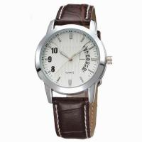 Buy cheap AMS-L003watch men leather watch with calender,young mens watches,western mens watches from wholesalers