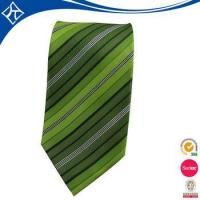 Buy cheap high quality custom color green stripe tie from wholesalers