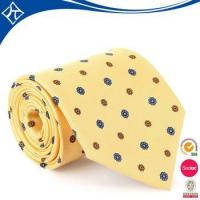 Buy cheap high quality cheap price yellow with black dots woven necktie product