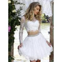 Buy cheap Elegant Long Sleeve White Cocktail Dresses from wholesalers