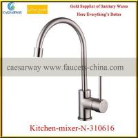 Buy cheap Household Brass Brushed Nickel Deck Mounted Kitchen Tap from wholesalers