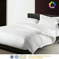 Buy cheap sateen white stripe bedsheet from wholesalers
