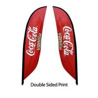 Buy cheap Hanging banner advertising product beach flag custom sport polyester flags from wholesalers