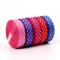 Buy cheap Personalized Ribbon Dot Printed Grosgrain Ribbon from wholesalers