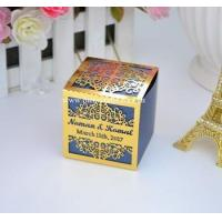 Buy cheap Personalised customized wedding favor box laser cut folded favor box with sleeve from wholesalers