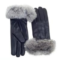 Buy cheap Gloves & Mittens GL-0004 Leather Glove w Rabbit Fur Cuff from wholesalers