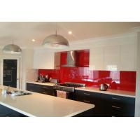 Buy cheap 4mm Silkscreen Red Tempered Silkscreen Glass Splashbacks For Kitchen from wholesalers