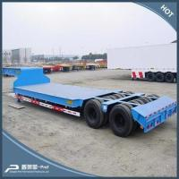 Buy cheap 2 lines 4 axles 80-100 tons lowboy trailer from wholesalers