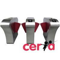 Buy cheap RFID card reader flap turnstile barrier gate from wholesalers