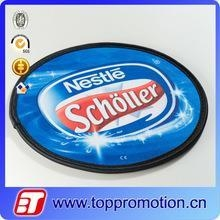 Quality custom nylon foldable frisbee with poncho cheap frisbee wholesale for sale