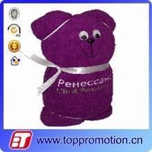 Quality promotion cotton compress cake towel cotton bear shape towel for sale