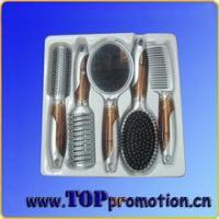 Buy cheap promotion plastic hairbrush set custom salon hair comb set from wholesalers