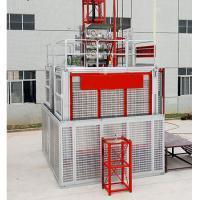 Buy cheap SC200/200L Double Cage Rack and Pinion Building Lift for Construction from wholesalers