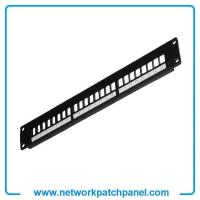 Buy cheap 1U 19 Inch 180 Degree Horizontal 24 Port Modular Patch Panels Suppliers from wholesalers