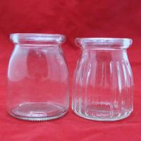 Buy cheap 150ml glass milk bottle with plastic lid from wholesalers