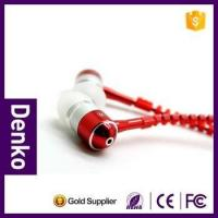 Buy cheap 2016 bestl Cheap 3.5mm in ear zip Zipper wired stereo zip earphone with mic for iphone mobile phone from wholesalers