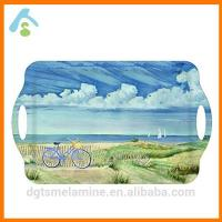 Buy cheap Printed Melamine Serving Tray With Handles product