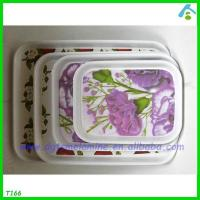 Buy cheap 4set Printed Hard Plastic Tray product