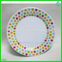 Buy cheap Cheap 100% Melamine Cake Plate With Embossed Dots product