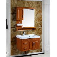 Buy cheap Rust-free Aluminum Solid Wood Color Standed Bathroom Cabinet from wholesalers