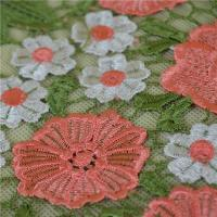 Buy cheap 2016 Popular Pink Flower Embroidery Lace Trim From China product