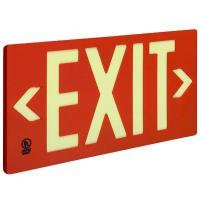 Buy cheap Glo Brite Eco Exit Photoluminescent Exit Sign from wholesalers