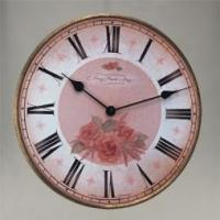 Buy cheap CLOCKS Fontana-Floral Round Wall Clock 29cm from wholesalers