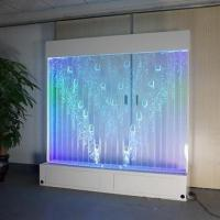 Buy cheap Stainless Steel Indoor Long Table Modern Color-changing LED Bubble Wall Fish Tank Coffee Bar from wholesalers