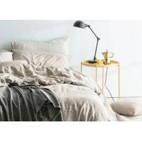 Buy cheap Linen Cotton Dyed Plain Bedding Sets , 4Pcs Comforter Bedding Sets For Home from wholesalers