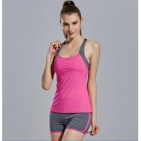 Buy cheap Sport suit YG1073 Women s Elastic Breathable Running Gym Sport Vest and Shorts Suits from wholesalers
