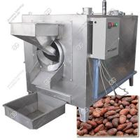 Buy cheap Rotary Cocoa Bean Roaster Machine|Cashew Nuts Roasting Machine from wholesalers
