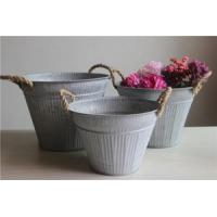 Buy cheap Antiqued Zinc Oval Buckets from wholesalers