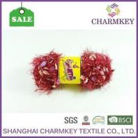 Buy cheap solid color feather eyelash fancy yarn on sale in low price from wholesalers