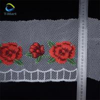 Buy cheap Best-saling red color guipure lace trim/Wholesale edging lace trim for garment from wholesalers