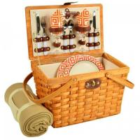Buy cheap Picnic at Ascot Frisco Traditional American Style Picnic Basket for 2 w/ Blanket - Diamond Orange from wholesalers